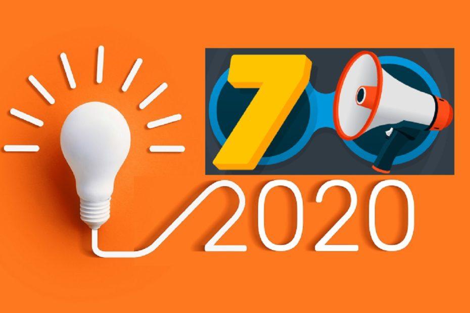 sete tendências para 2020